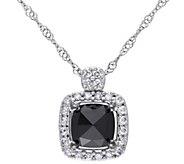 Black Diamond Pendant w/ Chain, 14K, 1.00 cttw,by Affinity - J344137