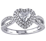 Heart Shaped Diamond Halo Ring, 14K, 1.00 cttw,by Affinity - J344537