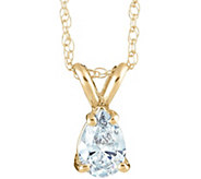 Pear Shaped Diamond Pendant, 14K Yellow, 1/4 cttw, by Affinity - J345037