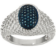 Pave Colored Diamond Ring Sterling, 1/4 cttw by Affinity - J347537