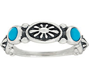 Sterling Silver & Gemstone Concha Ring by American West - J348737