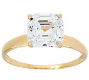 As Is Diamonique 3.00 cttw Solitaire Ring, 14K Yellow Gold - J351937