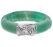 Stephen Dweck Rectangular Gem Stretch Bracelet Sterling - J354837