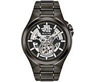 Bulova Mens Automatic Gunmetal Bracelet Watch - J375137