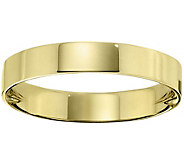 Mens 14K Yellow Gold 4mm Flat Comfort Fit Wedding Band - J375237