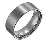 Forza Mens 8mm Steel Flat Brushed Ring - J109538