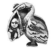 Prerogatives Sterling Stork Bead - J110038