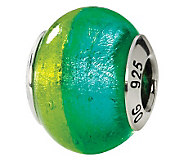 Prerogatives Sterling Green/Blue Italian MuranoGlass Bead - J111738