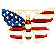 Joan Rivers Stars and Stripes Butterfly Pin - J261138