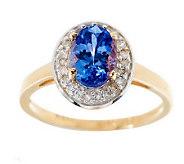 Premier 1.00 ct Tanzanite & 1/8cttw Diamond Choice of Cut Solitaire Ring - J264038