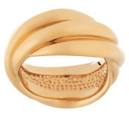 Bold High Polished Rolling Style Band Ring 14K Gold - J265538
