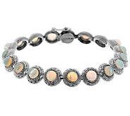 As Is 6.30 ct tw Ethiopian Opal 8 Sterling Tennis Bracelet - J265838