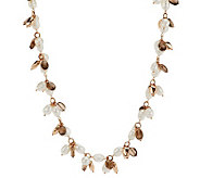 Honora Cultured Pearl 8.0mm Baroque & Smoky Quartz Bronze Necklace - J274038