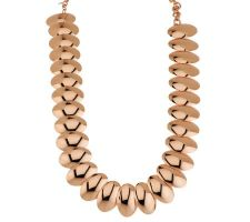 "As Is"" Bronzo Italia Polished 18"" Oval Disc Necklace with Extender"