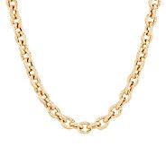 Judith Ripka Sterling & 14K Clad 18 Verona Bold Rolo Link Necklace, 31.2g - J290438