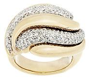 14K Gold Bold Polished 1.20 ct tw Diamond Swirl Ring - J291638