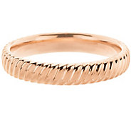 Oro Nuovo Large Polished Ribbed Twist Round Bangle 14K - J296338