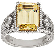 Judith Ripka Sterling 8.70 ct tw Yellow & White Diamonique Ring - J297038
