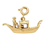 14K Yellow Gold Gondola Charm - J298438