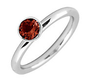 Simply Stacks Sterling 5mm Garnet SolitaireStackable Ring - J298738
