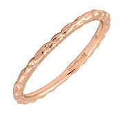 Simply Stacks 18K Rose Gold-Plated Sterling Ring - Twisted - J298838