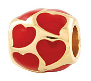 Prerogatives 14K Gold-Plated Sterling Hearts Bead - J307438