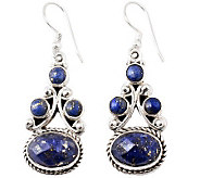 Novica Artisan Crafted Sterling Lapis Drop Earrings - J308238