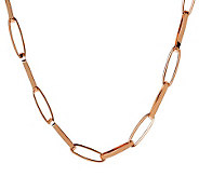 Bronze 24 Elongated Oval Link Necklace by Bronzo Italia - J311738