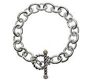 Judith Ripka Astor 8-1/2 Citrine Link Bracelet, Sterling - J312338
