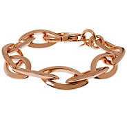Bronze 7-1/4 Marquise Link Bracelet by BronzoItalia - J312438