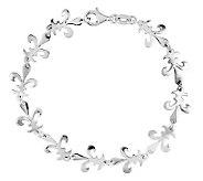 Sterling 7-1/2 Polished Fleur-de-Lis Link Bracelet - J312738