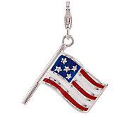 Amore La Vita Sterling Dimensional American Flag Charm - J313438