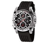 Bulova Mens Precisionist Black Rubber Strap Watch - J316538