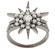 Vicenza Silver Sterling Diamonique Star Design Ring - J319238