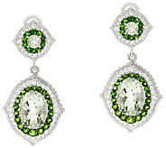 Judith Ripka Sterling Fluted 13.0 cttw Gemstone Drop Earrings - J319938