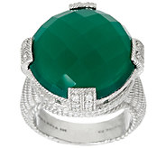 Judith Ripka Sterling Faceted Gemstone Ring - J321138