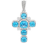 Judith Ripka Sterling Gemstone Cross Enhancer - J323338
