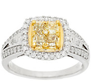 As Is Cushion Cut Canary Diamond Ring, 14K, 1cttw by Affinity - J323638