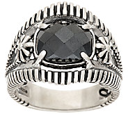 Jennifer Nettles Sterling Silver Faceted Hematite Ring - J323938