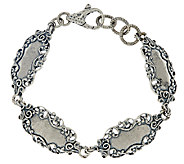 Sterling Silver Lace Station Bracelet by Or Paz, 17.00g - J324138