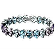 Marquise Multi-Gemstone Tonal 7-1/4 Tennis Bracelet 14.50 cttw - J326838