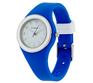 Isaac Mizrahi Live! SOHO Silicone Strap Watch - J327138
