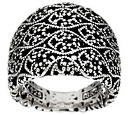 Sterling Silver Tapered Lace Ring by Or Paz - J328038