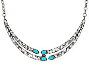 Carolyn Pollack Sterling Silver Sleeping Beauty Turquoise Necklace - J328238
