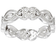 Diamonique Heart Eternity Band Ring, Sterling or 14K Clad - J329338