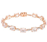 Morganite 6-3/4 Tennis Bracelet 14K Gold 10.00 cttw - J329438