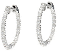 Round Diamond 3/4 Hoop Earrings, 18K, 1.00 cttw, by Affinity - J331538
