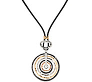 Susan Graver Layered Circle Pendant Necklace - J331838