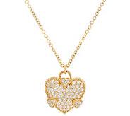 Judith Ripka 14K Gold Diamond Heart Necklace - J334138