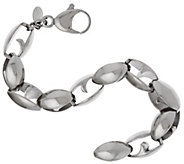 As Is Stainless Steel Bold Polished Link Bracelet - J346038